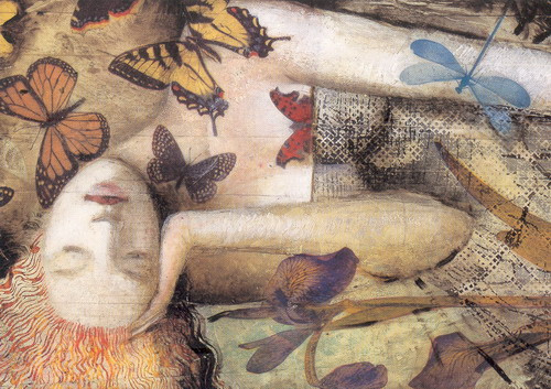 Greg Spalenka - Woman with butterflies